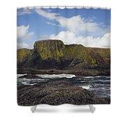 Lighthouse On Coastal Cliff Shower Curtain