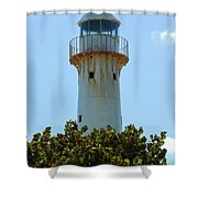 Lighthouse On Grand Turk 2 Shower Curtain