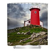 Lighthouse On Hill Shower Curtain