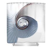 Lighthouse Spiral Staircase Shower Curtain