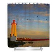 Lighthouse, Sylvan Lake, Alberta, Canada Shower Curtain