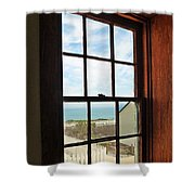 Lighthouse Window Shower Curtain
