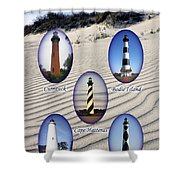 Lighthouses Of The Outer Banks Shower Curtain