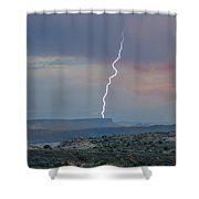 Lighting At The Arches Shower Curtain