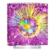 Lighting Effects And Graphic Design Shower Curtain by Setsiri Silapasuwanchai