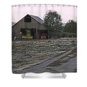 Lightly Colored Barn Shower Curtain
