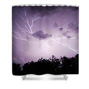 Lightning Burst Shower Curtain