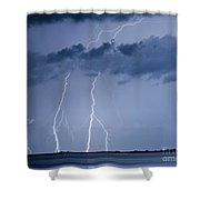 Lightning On The Water Shower Curtain