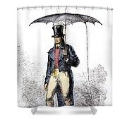 Lightning Rod Umbrella Shower Curtain