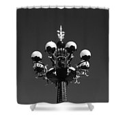 Lights In The Sky In Black And White Shower Curtain