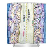 Lights Of The Night 2 Shower Curtain