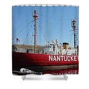 Lightship Nantucket Shower Curtain