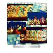 Lightshow Collage Shower Curtain