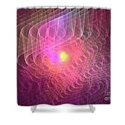 Lightwaves Shower Curtain