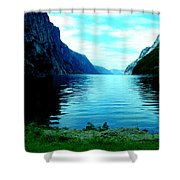 Ligth Fjord Norway Shower Curtain