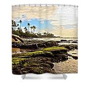 Lihue Rocky Coast Shower Curtain