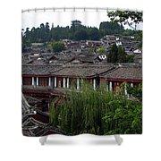 Lijiang Rooftops Shower Curtain