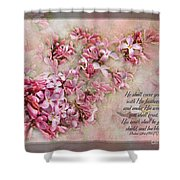 Lilacs With Verse Shower Curtain