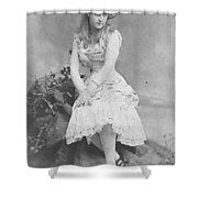 Lillian Russell 1882 Shower Curtain