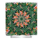 Lilly In Abstract Shower Curtain