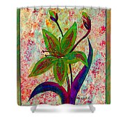 Lily Abstraction Shower Curtain