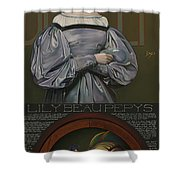 Lily Beau Pepys Shower Curtain