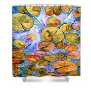 Lily Pad Time Shower Curtain