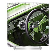 Lime Chevy Impala  Shower Curtain