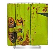 Lime Hinge Shower Curtain