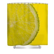 Lime Slice Soda 1 Shower Curtain