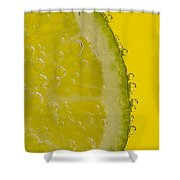 Lime Slice Soda 2 Shower Curtain