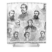 Lincoln Assassins Trial Shower Curtain