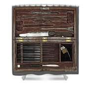 Lincoln Autopsy Kit, 1865 Shower Curtain
