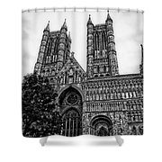 Lincoln Cathedral Facade Shower Curtain