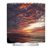 Lincoln City Sunset Shower Curtain