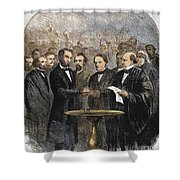 Lincoln Inauguration, 1865 Shower Curtain by Granger