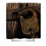 Lincoln Lock Shower Curtain