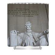 Lincoln Memorial - Enshrined Forever Shower Curtain