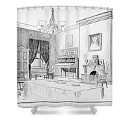 Lincoln: White House Office Shower Curtain