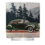 Lincoln Zephyr 1936 Shower Curtain