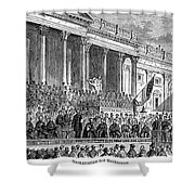 Lincolns Inauguration, 1861 Shower Curtain