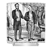 Lincolns Inauguration Shower Curtain by Granger
