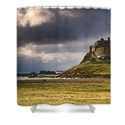 Lindisfarne Castle, Beblowe Crag Shower Curtain