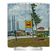 Line For The Swing Bridge Shower Curtain