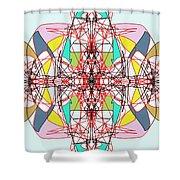 Linear Array Shower Curtain