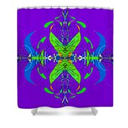 Linear Movement In Purple Shower Curtain