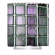 Lines II - Retro Shower Curtain