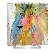 Lion Head 3 Shower Curtain