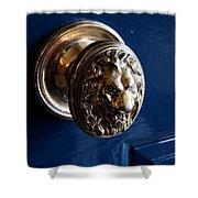 Lion Head Door Knob Shower Curtain