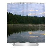 Lion Lake Montana Sunrise Shower Curtain